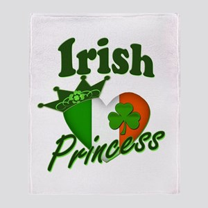 Irish Princess St. Patty's Day Throw Blanket