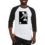 Soccer Silhouette Baseball Jersey