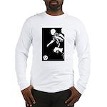 Soccer Silhouette Long Sleeve T-Shirt