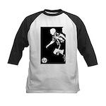 Soccer Silhouette Kids Baseball Jersey