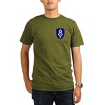 8th Infantry Organic Men's T-Shirt (dark)