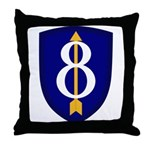 8th Infantry Throw Pillow