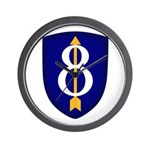 8th Infantry Wall Clock