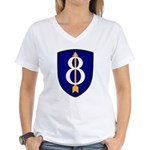 8th Infantry Women's V-Neck T-Shirt