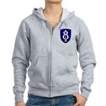 8th Infantry Women's Zip Hoodie