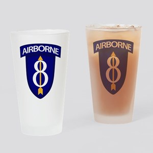 8th Infantry Airborne Drinking Glass