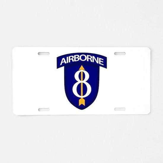 8th Infantry Airborne Aluminum License Plate