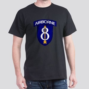 8th Infantry Airborne Dark T-Shirt