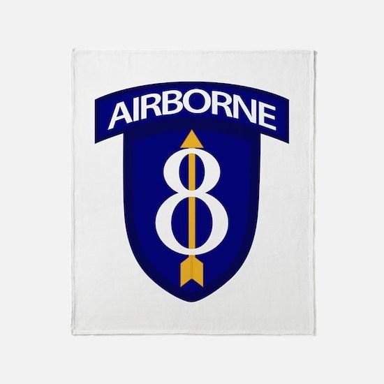 8th Infantry Airborne Throw Blanket