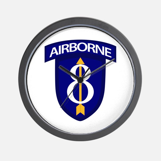 8th Infantry Airborne Wall Clock