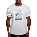 Funny Soccer  Ash Grey T-Shirt
