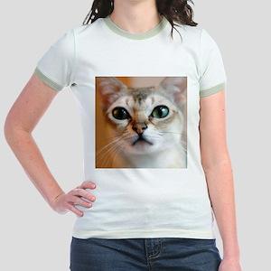 Happiness is a Singapura Cat Jr. Ringer T-Shirt