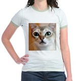 Singapura cat Jr. Ringer T-Shirt