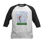 Funny Soccer  Kids Baseball Jersey