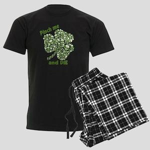 Pinch Me and Die Funny Irish Men's Dark Pajamas