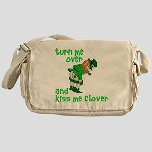Kiss Me Clover Funny Irish Messenger Bag