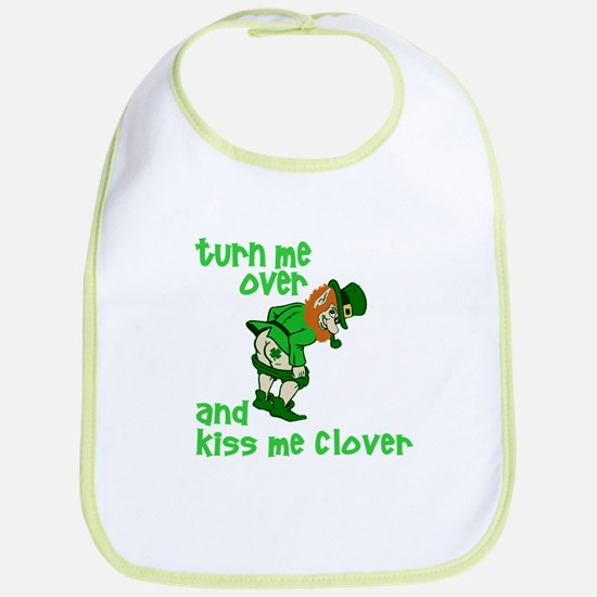 Kiss Me Clover Funny Irish Bib