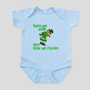 Kiss Me Clover Funny Irish Infant Bodysuit
