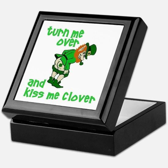 Kiss Me Clover Funny Irish Keepsake Box