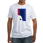 America Soccer  Fitted T-Shirt