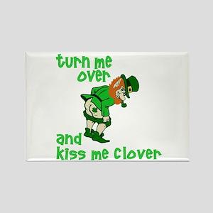 Kiss Me Clover Funny Irish Rectangle Magnet