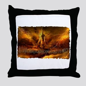 second coming of jesus Throw Pillow