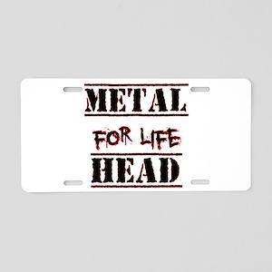 Metal Head For Life Aluminum License Plate