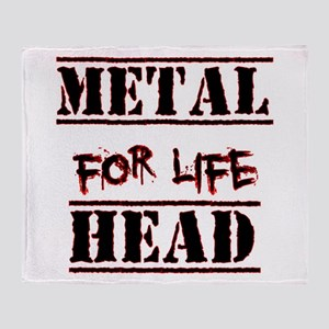Metal Head For Life Throw Blanket