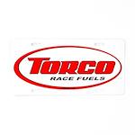 TORCO logo Aluminum License Plate