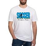 Soccer Kicks Ass Fitted T-Shirt