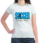 Soccer Kicks Ass Jr. Ringer T-Shirt