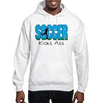Soccer Kicks Ass Hooded Sweatshirt