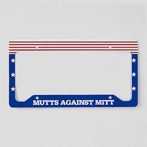 Mutts Against Mitt License Plate Holder