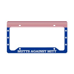 Mutts Against Mitt License Plate Holder