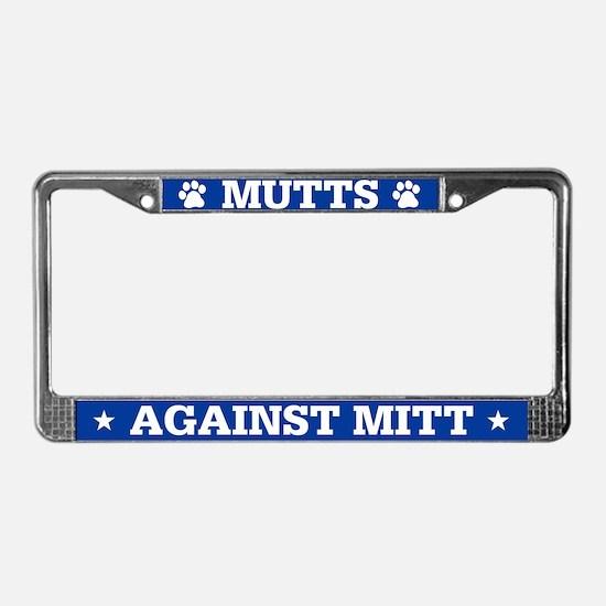 Mutts Against Mitt License Plate Frame