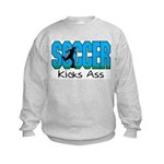 Soccer Kicks Ass Kids Sweatshirt