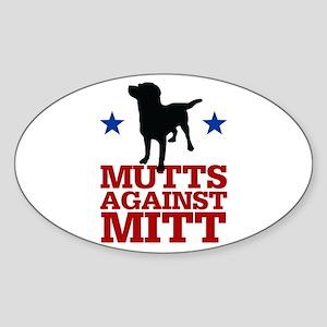 Mutts Against Mitt Sticker (Oval)