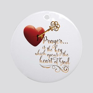 Heart of God Round Ornament