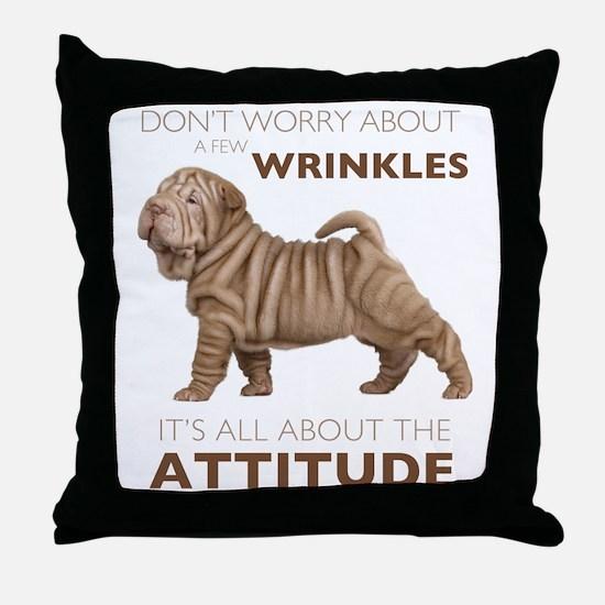 Shar Pei Attitude Throw Pillow