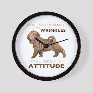 Shar Pei Attitude Wall Clock