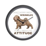 Shar pei Wall Clocks