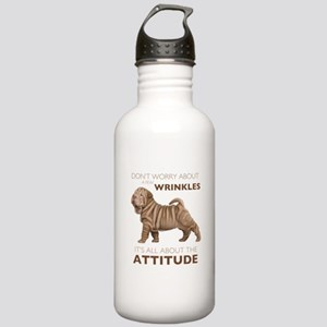 Shar Pei Attitude Stainless Water Bottle 1.0L