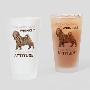 Shar Pei Attitude Drinking Glass
