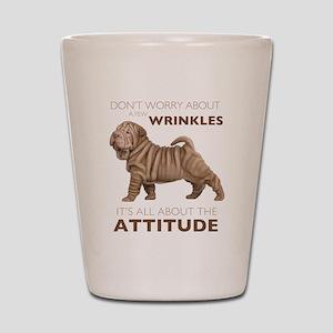 Shar Pei Attitude Shot Glass
