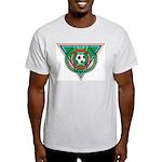 Soccer Emblem Ash Grey T-Shirt