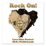 Save Our #PublicLands Square Car Magnet 3