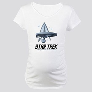 Star Trek Ship with Stars Maternity T-Shirt