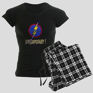ADHD IS MY SUPERPOWER Women's Dark Pajamas