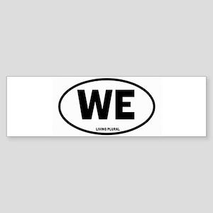 WE Euro Style Oval Sticker (Bumper)