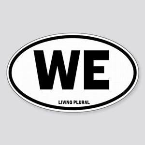 WE Euro Style Oval Sticker (Oval)